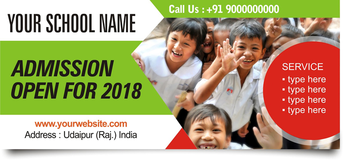 school admission banner freelance graphic design online service in