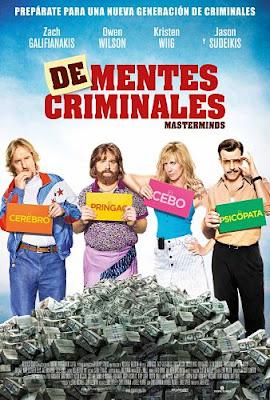 Cartel oficial español: De-mentes criminales (Masterminds) (2015)
