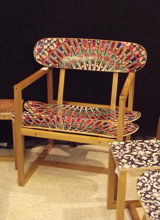 cadeira moderna, cadeira upcycling, upcycling, reciclagem, design, cadeira, móvel, skatehaus, a casa eh sua, craft design