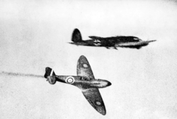 31 October 1940 worldwartwo.filminspector.com Spitfire Heinkel He 111