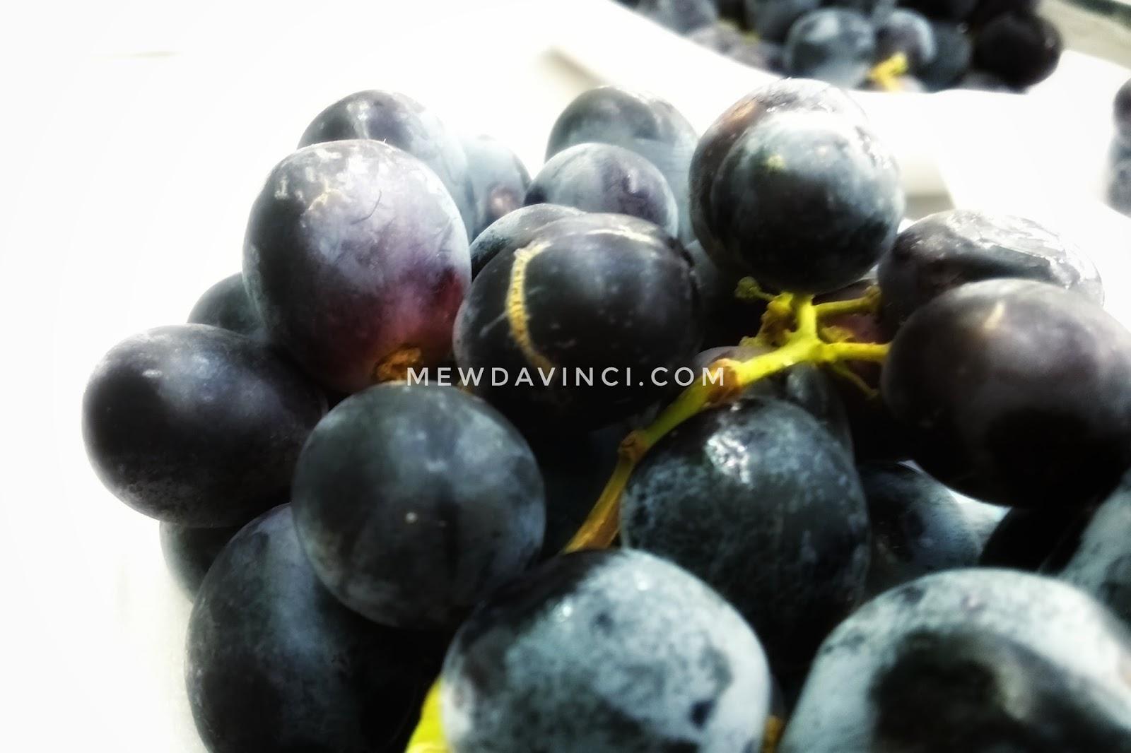 Buah anggur tanpa biji untuk dibuat kismis