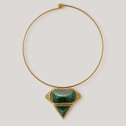 Green Malachite Croc Choker
