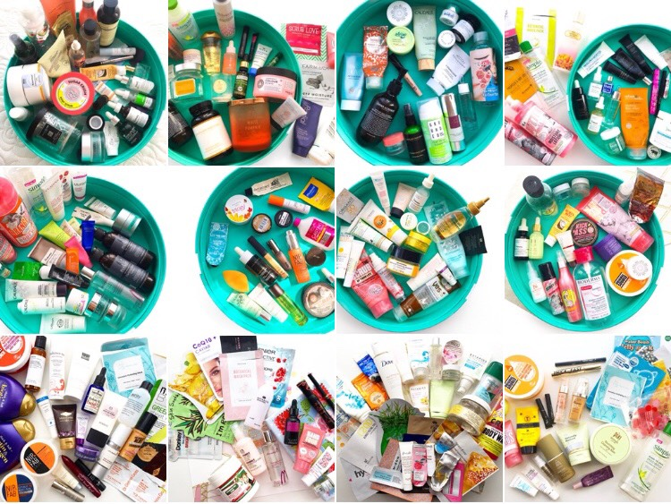 top 10 tips for project panning, ten tips to help you declutter, ten tips to help you finish up beauty products, a year of empties, empties, product empties, ten beauty tips, top ten beauty tips for using up products quickly