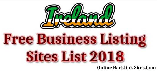 Ireland Free Business Listing Sites List 2018