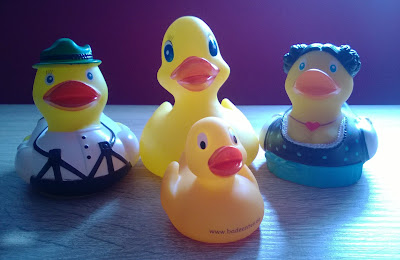 Die Badeenten Familie.