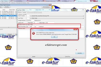 Solusi Error ETAX-30029 (Nomor Faktur Tidak Benar) Pada e-Faktur