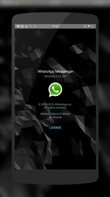 WhatsApp Mod base Apk v2.12.287 WAMOD Beta 7 - Black\u0026White ...