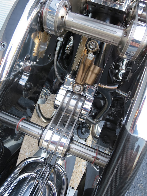 Bienville Legacy Motorcycle suspension detail