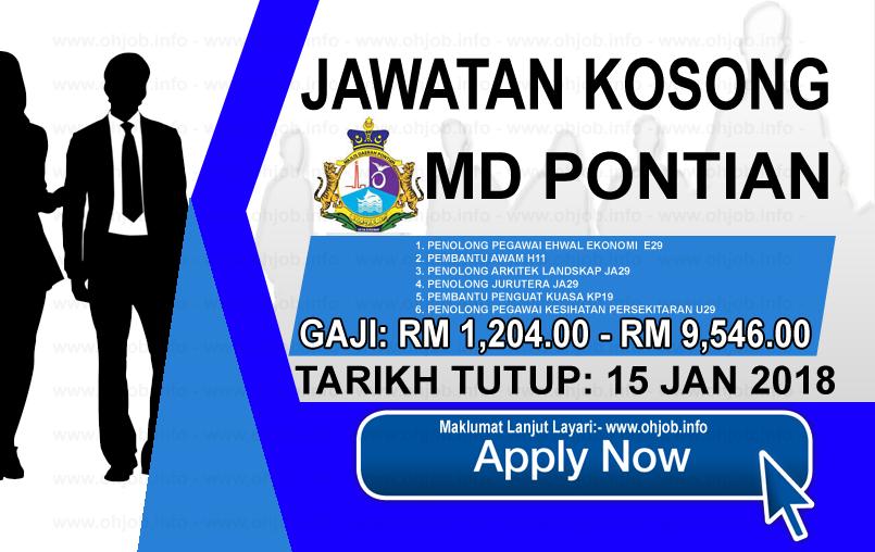 Jawatan Kerja Kosong Majlis Daerah Pontian - MDPontian logo www.ohjob.info januari 2018
