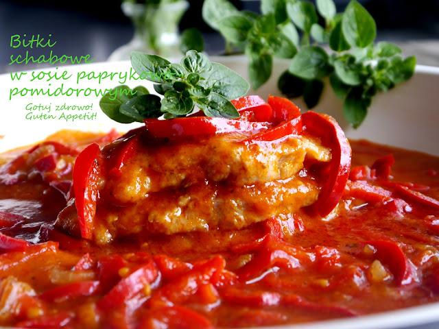 Bitki schabowe w sosie pomidorowo-paprykowym - Czytaj więcej »