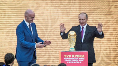 Robbie William, World Cup, Russia World Cup, Vladimir Putin, Aida Garifullina, World Cup 2018, Indihome Piala Dunia