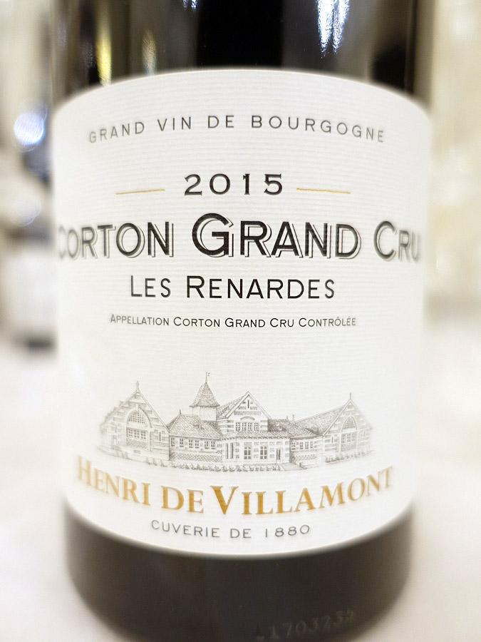 Henri de Villamont Corton Grand Cru Les Renardes 2015 (93 pts)