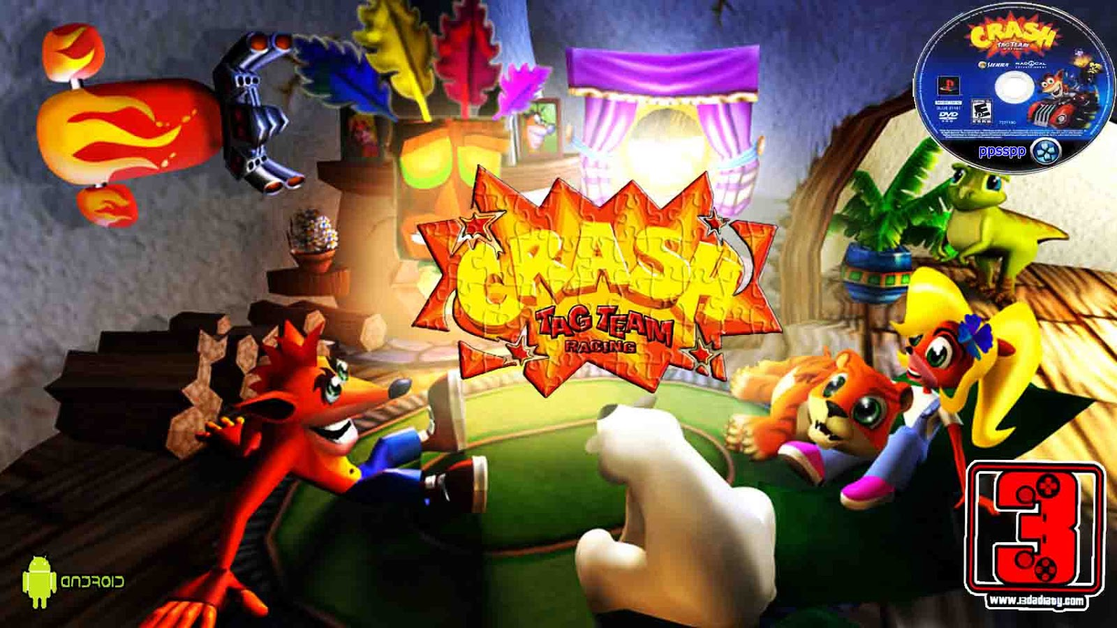crash tag team racing psp iso download