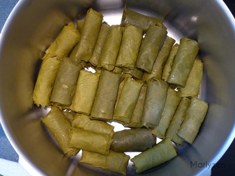 Placez les dolma dans une cocotte en veillant à bien les caler.