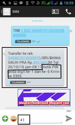 panduan cara transfer dengan SMS banking selain bank mandiri