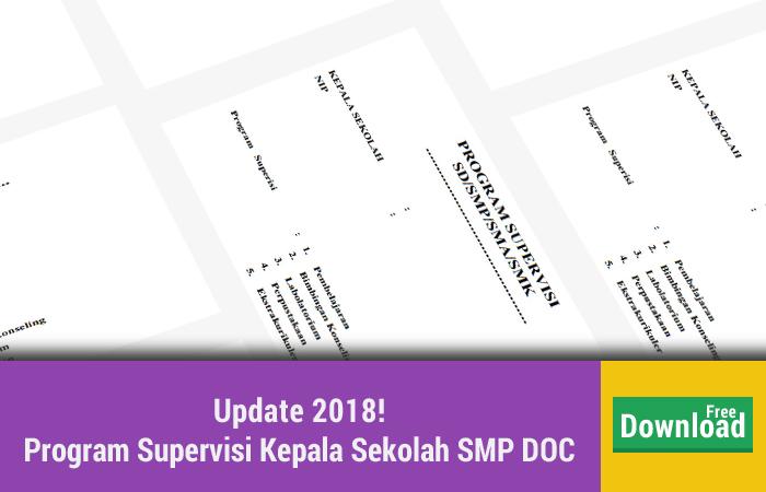 Program Supervisi Kepala Sekolah SMP DOC