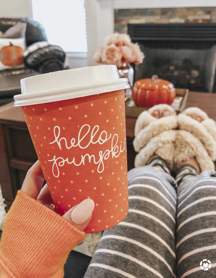 target dollar spot hello pumpkin to go cup