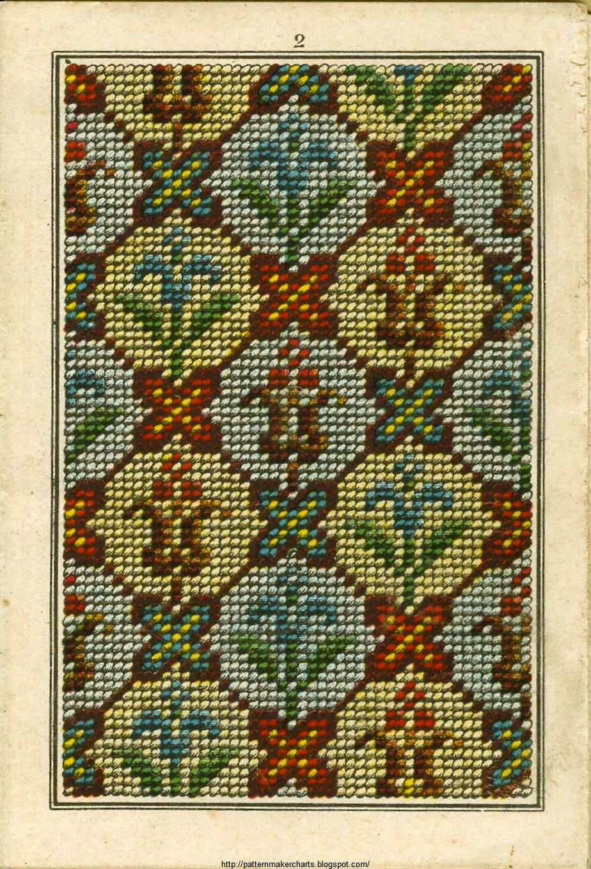 Схемы старинных немецких вышивок 17
