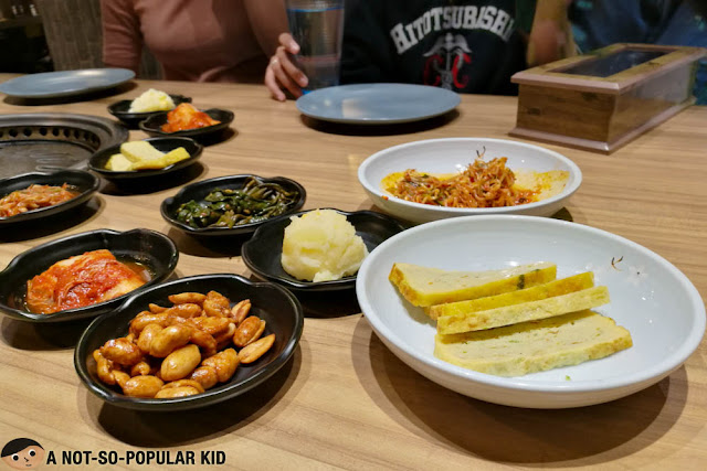 Korean side dishes in Soban K-Town Grill