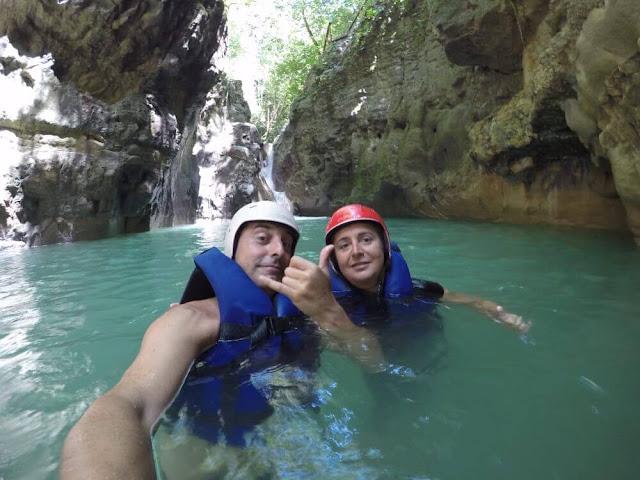 selfie en los Saltos de Damajagua