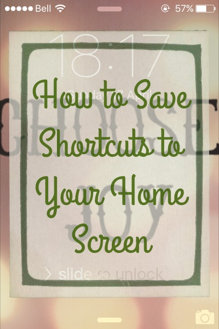 {ErinOutandAbout} How to save website shortcuts to your iPhone home screen