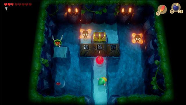 薩爾達 織夢島攻略 燈魚怪瀑布池迷宮7