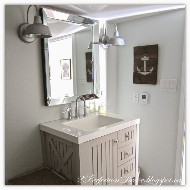2perfection Decor Basement Coastal Bathroom Reveal