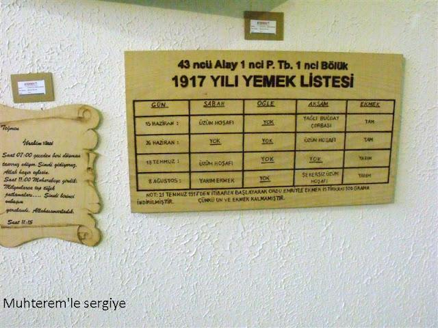 çanakkale savaşı yemek listesi