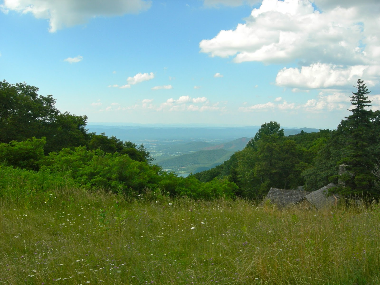 View from Skyland Lodge on Skyline Drive, VA