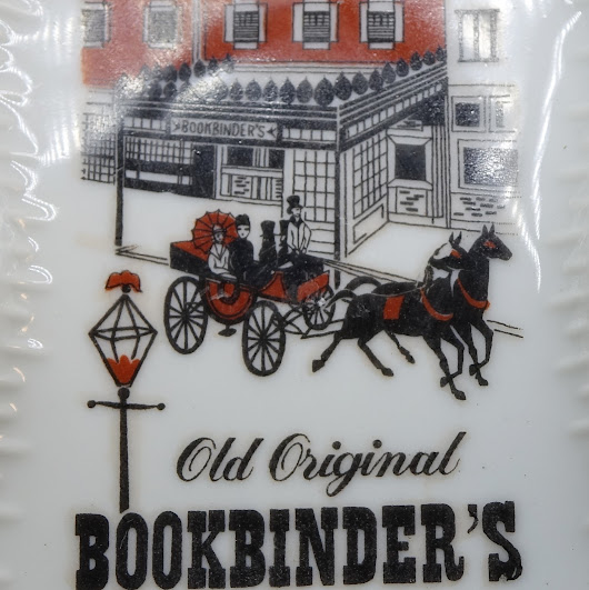 Old Bookbinders Restaurant Philly Philadelphia Tip Trays Ashtrays Advertising Vintage