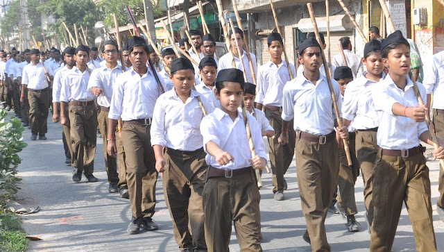 rss-volunteers-celebration-foundation-day-in-faridabad