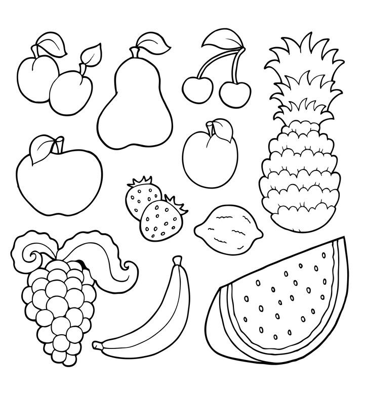 Worksheet. TE CUENTO UN CUENTO Dibujos para Colorear de FRUTAS VARIADAS