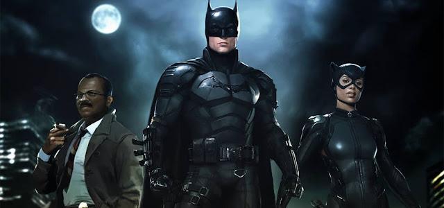 Arte promocional de 'The Batman' oferece uma nova visão de Robert Pattinson no traje do herói