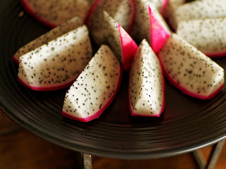 Dragonfruit slices in the Sky Lounge, Continent Hotel