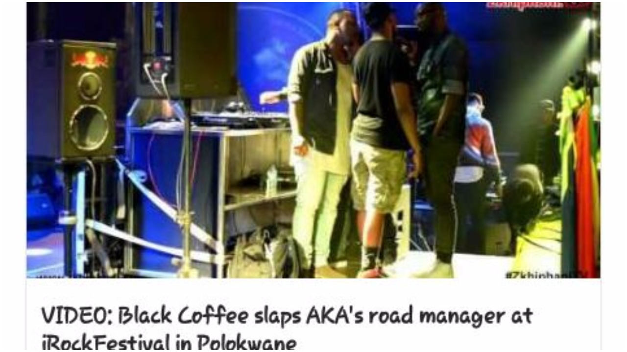 VIDEO: Black Coffee slaps AKA's road manager at iRockFestival in Polokwane