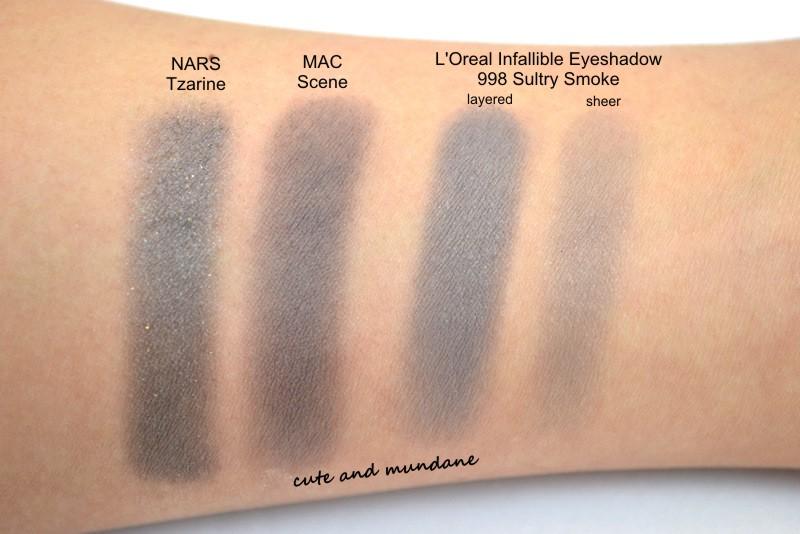 Mac scene eyeshadow swatch