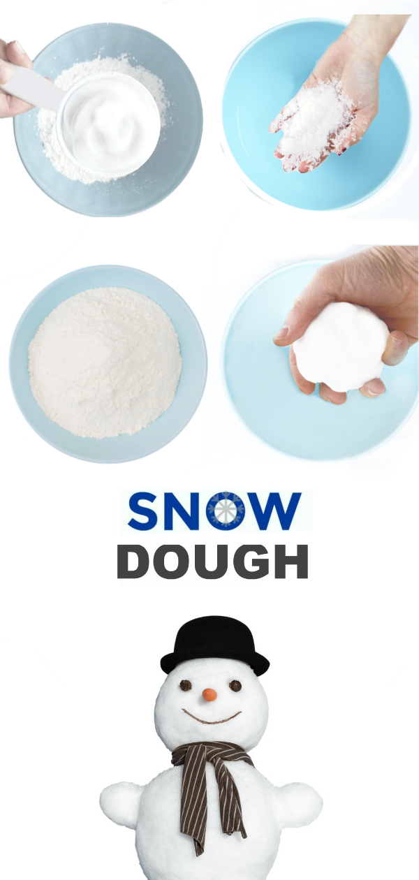 2-INGREDIENT SNOW DOUGH - icy-cold just like real snow!! #snowdoughrecipe #snowdough #makesnow #makesnowforkids #snowdoughrecipecornstarch #snowrecipesforkids #growingajeweledrose