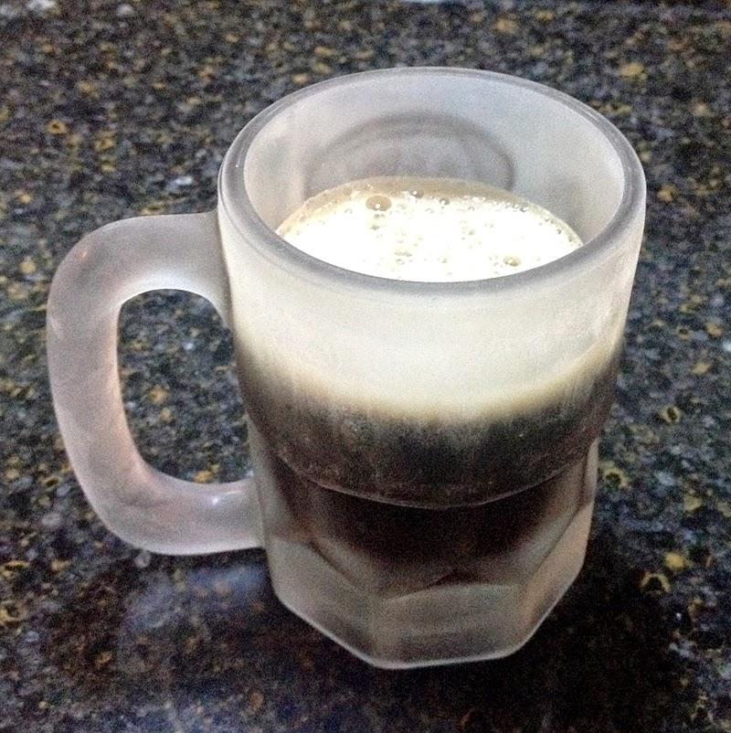 Sprecher Root Beer in a Mug
