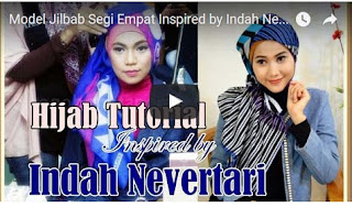 Model Jilbab Segi Empat  Inspired by Indah Nevertari Rising Star 2014 RCTI Part #52