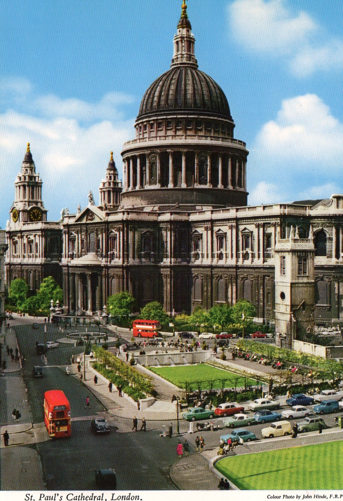 vintage, postcard, London,  St Paul's Cathedral,