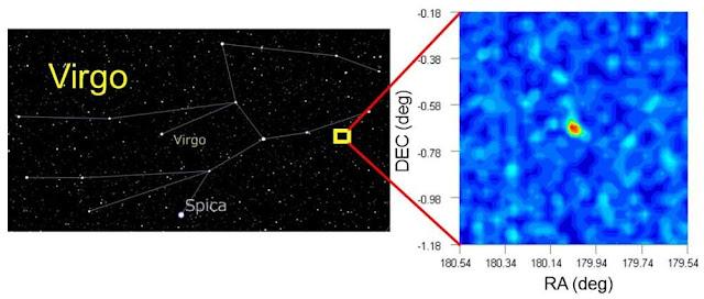 Галактика, названа Virgo I, розташована на відстані в 280 тисяч світлових років від нас.