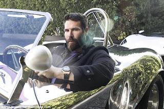 Dan Bilzerian driving an expensive convertible