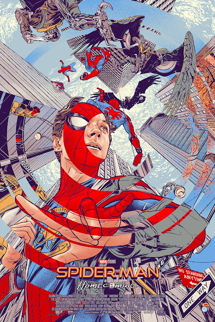 Spider-Man Homecoming Timed Edition Screen Print by Martin Ansin x Mondo