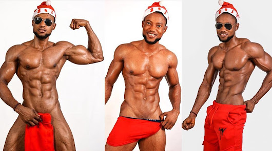 Nigerian fitness enthusiast, Joe Pete, wrecks the Internet with his Christmas photos