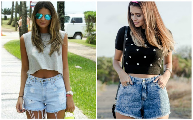 cropped com jeans