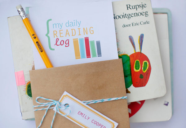 Back to School Reading Log (Printable) | Somewhat Simple