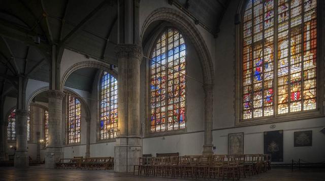 Igreja Sint Janskerk em Gouda na Holanda