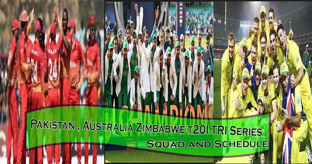Pak Aus Zim tri Series 2018