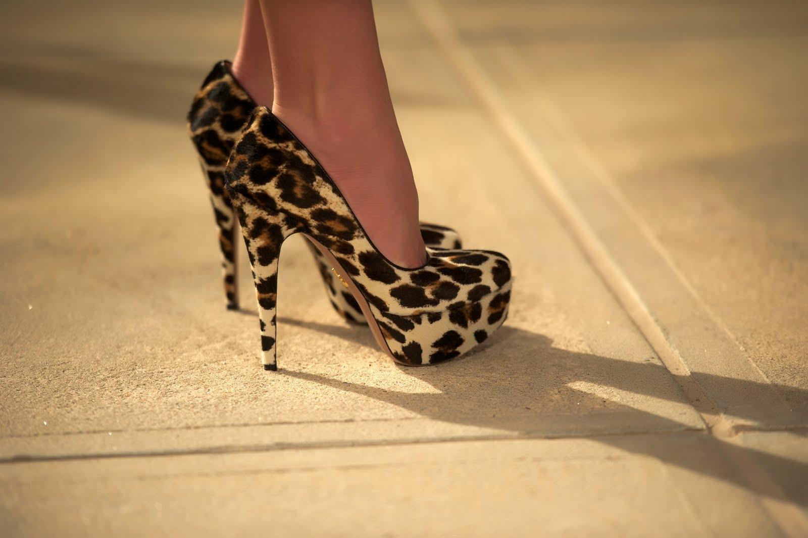a14717fcf4 Platform Heels: Leopard Print Platform Heels