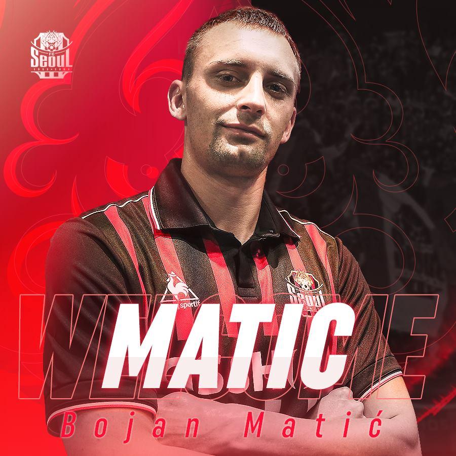 FC Seoul's Serbian Striker Bojan Matic